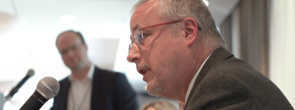 David Pilley speaking at Tenant Talks